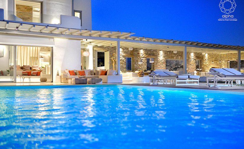 Villa-mykonos-pool-view